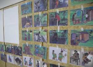 PARLE workshops - pictures of WASH behaviours